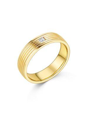 18ct Yellow Gold Princess Diamond Ring