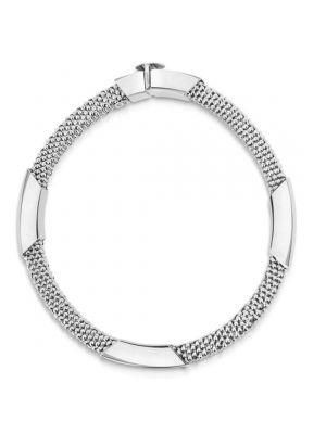 14ct White Gold Bracelet