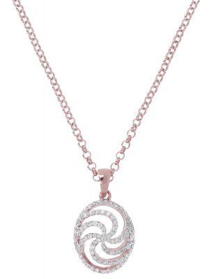 Bronzallure Altissima fancy pave rolo necklace