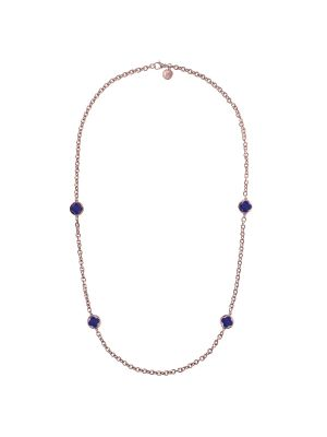 Bronzallure Alba Lapis Stationary Necklace with Clover Seals
