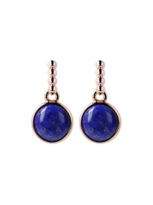 Bronzallure Lapis Cabochon Dangle Earrings