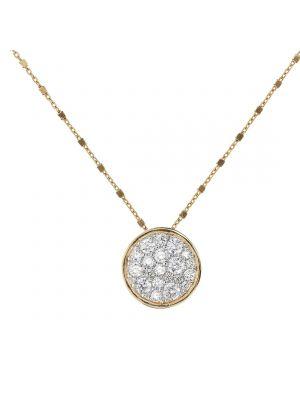 Bronzallure golden pavé heart pendant