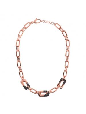 Aurora Pavé Link Necklace, Bronzallure