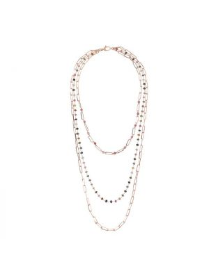 Three Strands Necklace with Rosary Chain, Bronzallure