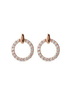 Bronzallure Cubic Zirconia Circle Earrings