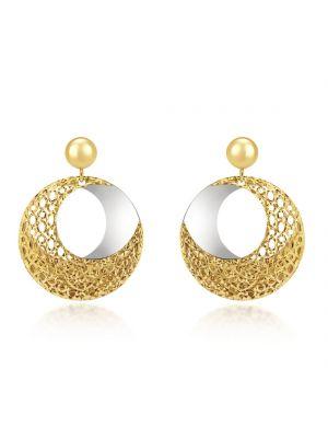 9ct Yellow & White Gold Fancy Drop Earrings