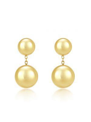 9ct Yellow Gold Minimalist Drop Earrings