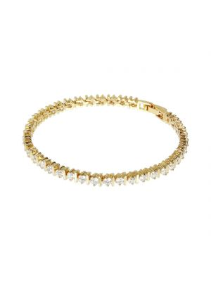 18ct yellow gold microplated on bronze cz tennis style bracelet