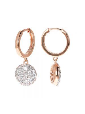 Hoop Earrings with Pavé Pendant CZ by Bronzallure