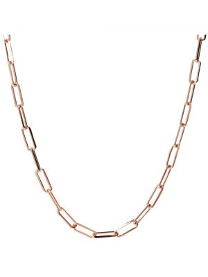 18ck Rose Gold Microplated Venetian Link Necklace