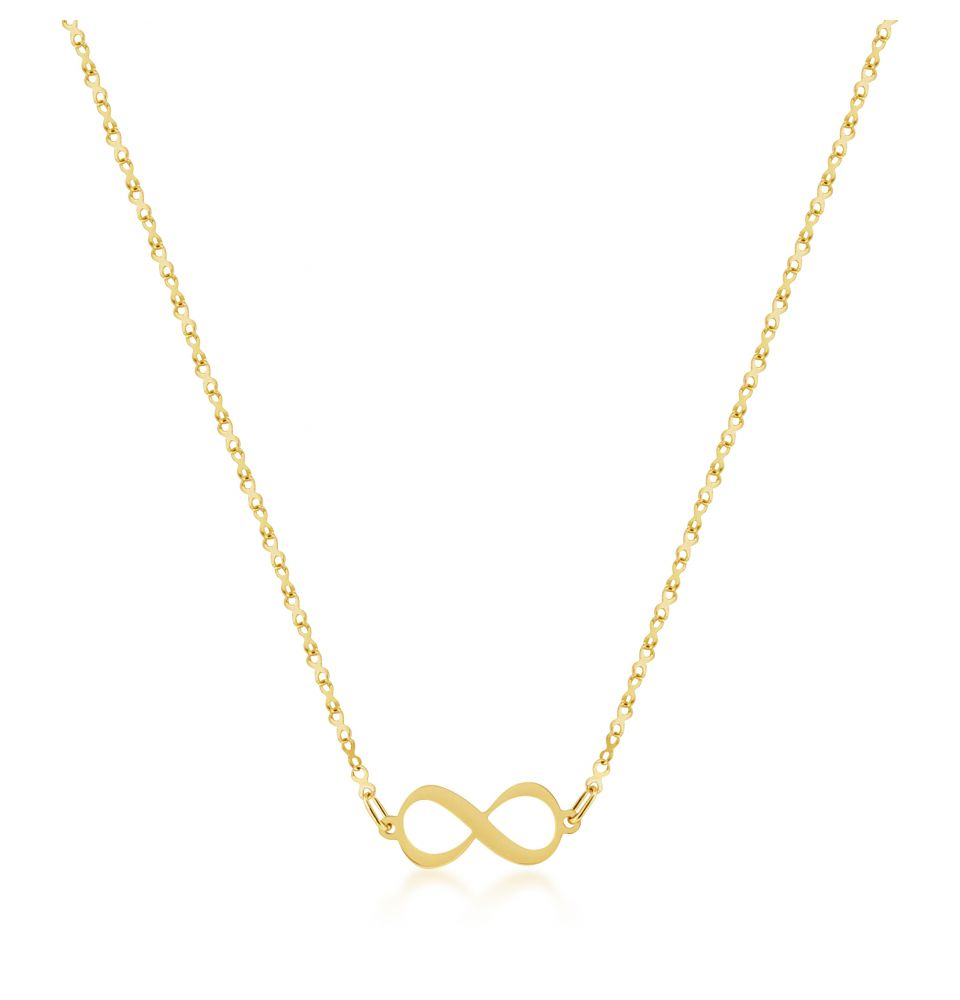 9ct Yellow Gold Infinity Pendant,