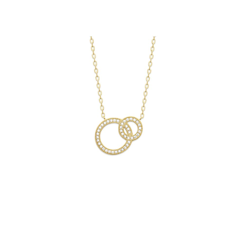 18kt Microplated Gold Overlapping Loops Necklace