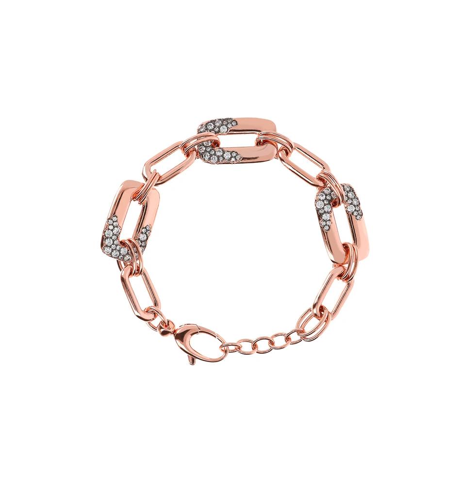 Aurora Pavé Link Bracelet, Bronzallure