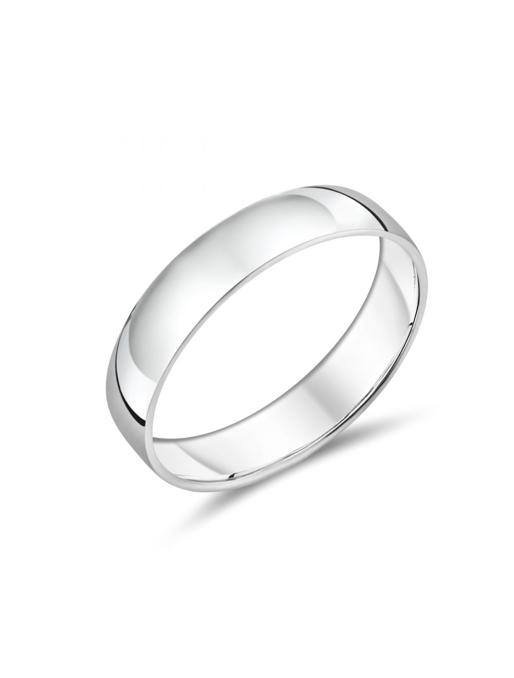 9ct White Gold Simple Gents Wedding Band | Ryan Thomas Jewellers