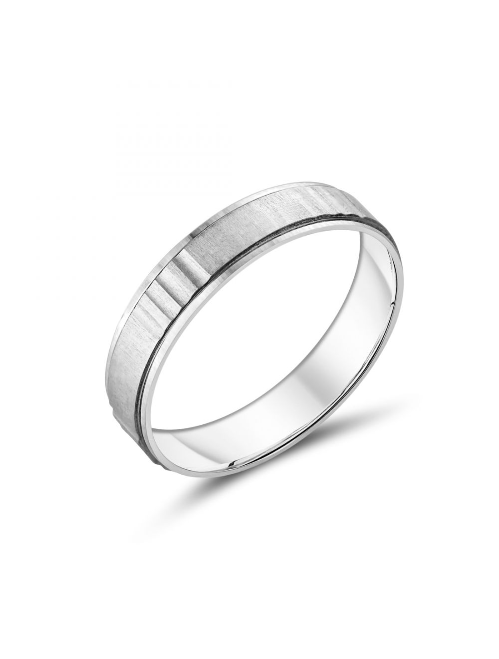 59fd256d5da9b 9ct White Gold Gents Wedding Bands with Groove Design