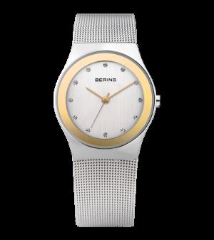 Bering ladies two tone milanese strap watch