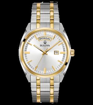 Gents Bulova Two Tone Classic Surveyor watch