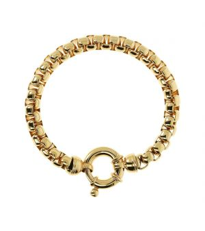 18ct yellow gold microplated chunky style Bronzallure bracelet