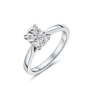 18ct white gold oval shape Lab diamond ring