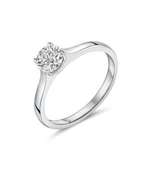 18ct white gold solitaire Lab diamond ring