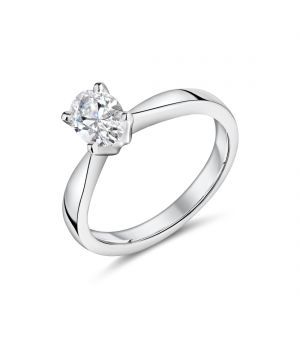 18ct white gold oval cut Lab diamond ring