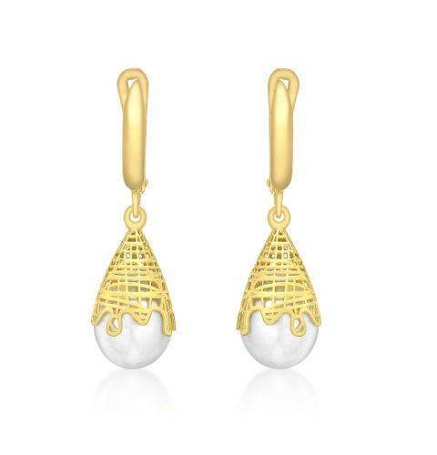 Freshwater Cultured Pearl Fancy Drop Earring