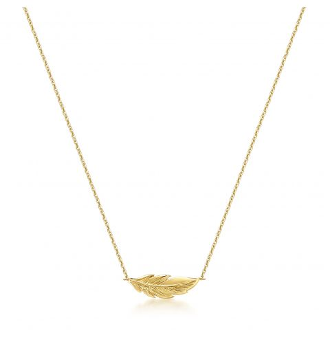 9ct Gold Feather Pendant