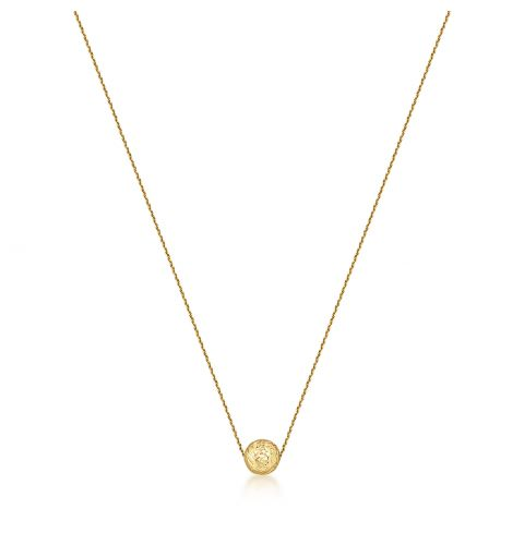 9ct Gold Diamond Cut Sphere Pendant