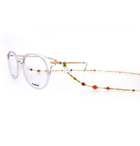 Coral & Cultured Freshwater Pearl Eyewear Frame Chain