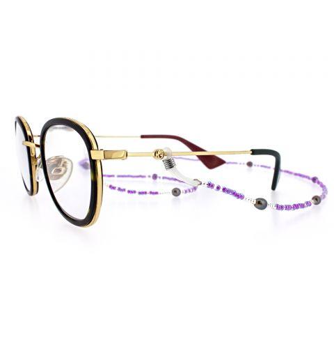 Grey Pearl & Lilac Eyewear Frame Chain