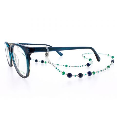 Blue Lapis & Green Agate Eyewear Frame Chain