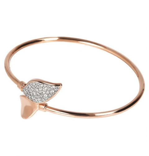 Bangle with Double Pavé Leaf-Bronzallure