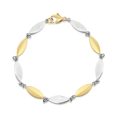 9ct two tone link bracelet
