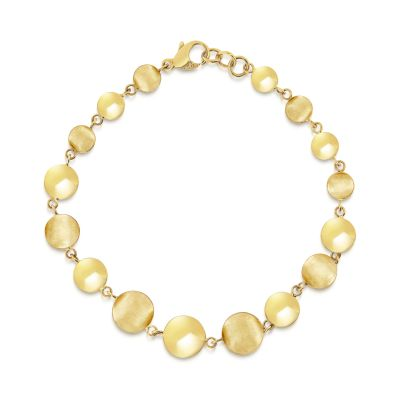 9ct yellow gold circular bead bracelet