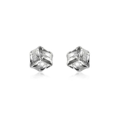 Sterling silver inverted knot earrings