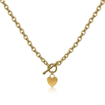 Heart T-bar necklace