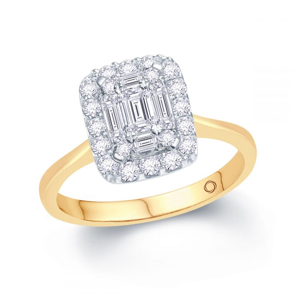 73e21ad72 18ct yellow gold emerald style engagement ring | Ryan Thomas Jewellers
