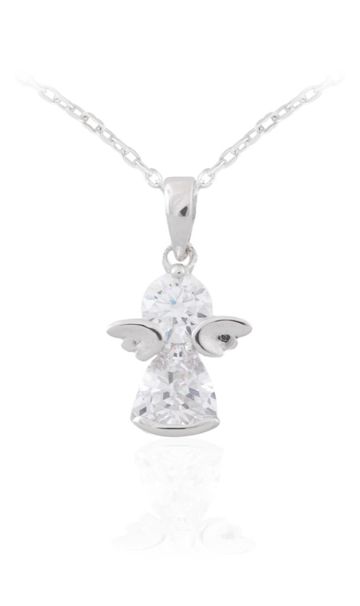Sterling silver angel pendant and chain ryan thomas jewellers aloadofball Images