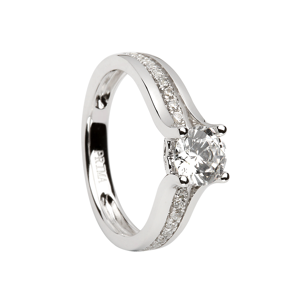 ring cubic crislu sterling size zirconia platinum jewellery finish silver in jewelry and
