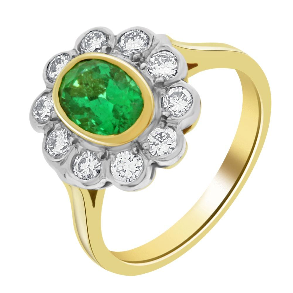 emerald original cabochon xmc ring rd products cut