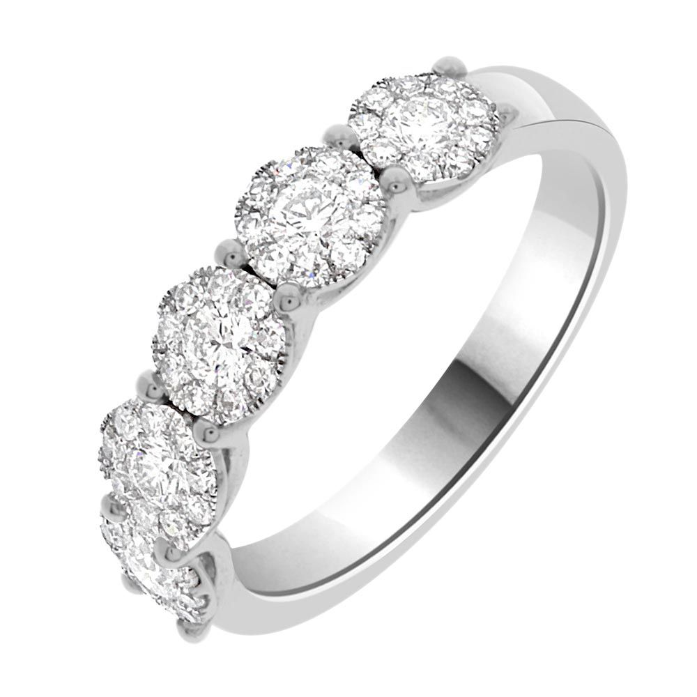 diamond rings multi round shining stone diamonds engagement ring gold cluster