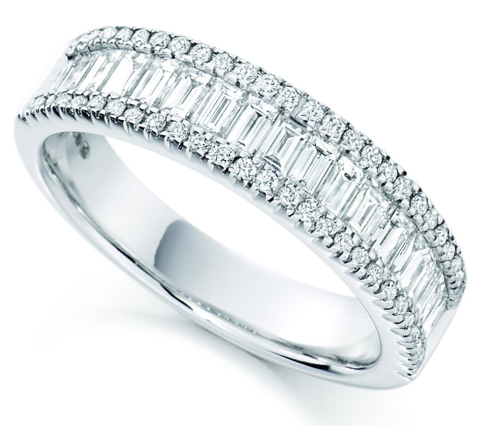 straight eternity bands round and in pave diamond petite wedding gold baguette wb yellow band