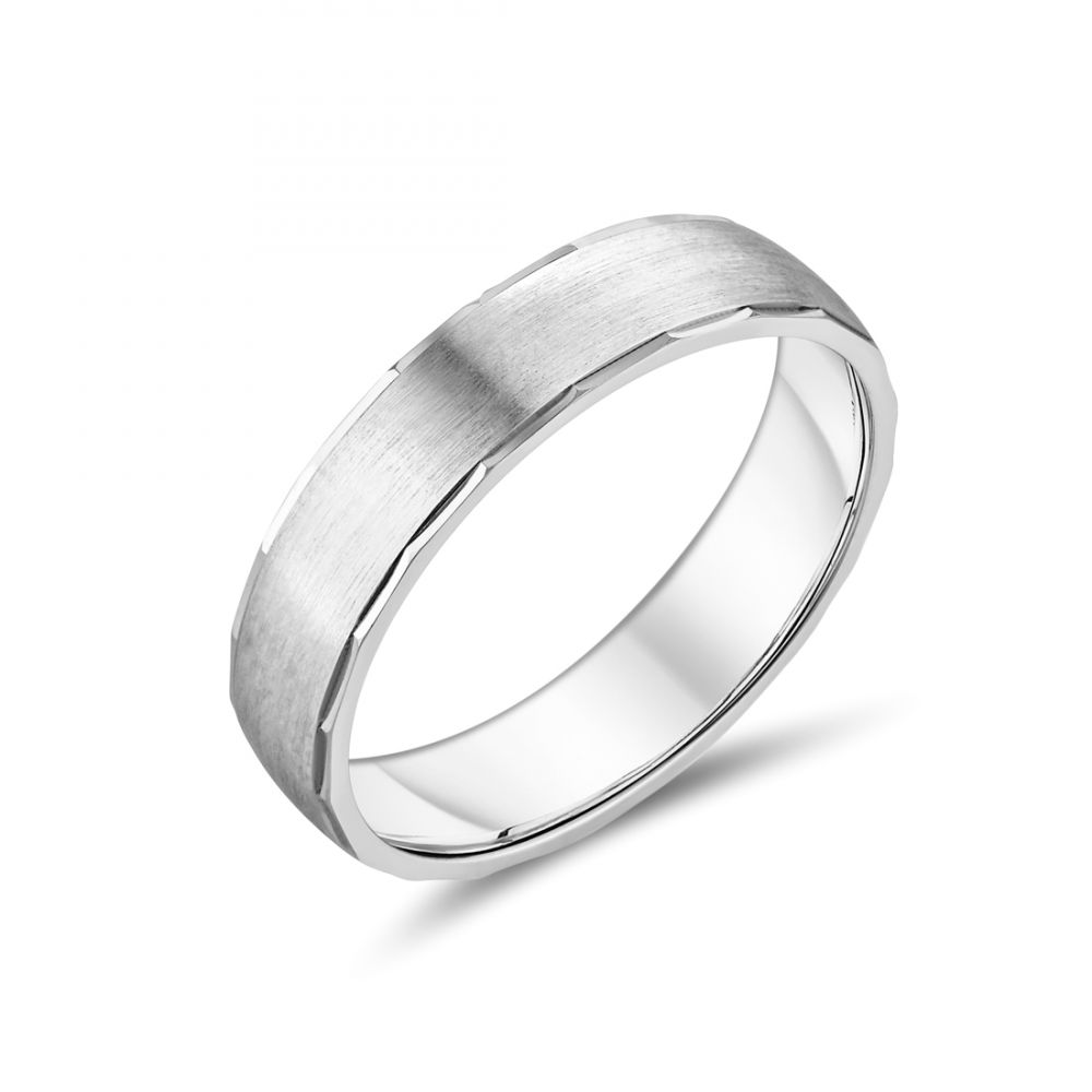 951fcd7a68d5c 9ct Gents 5mm White Gold Band