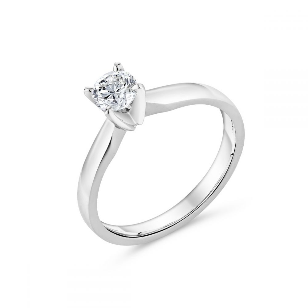 ring white gold cut htm brilliant solitaire diamond round p carat engagement
