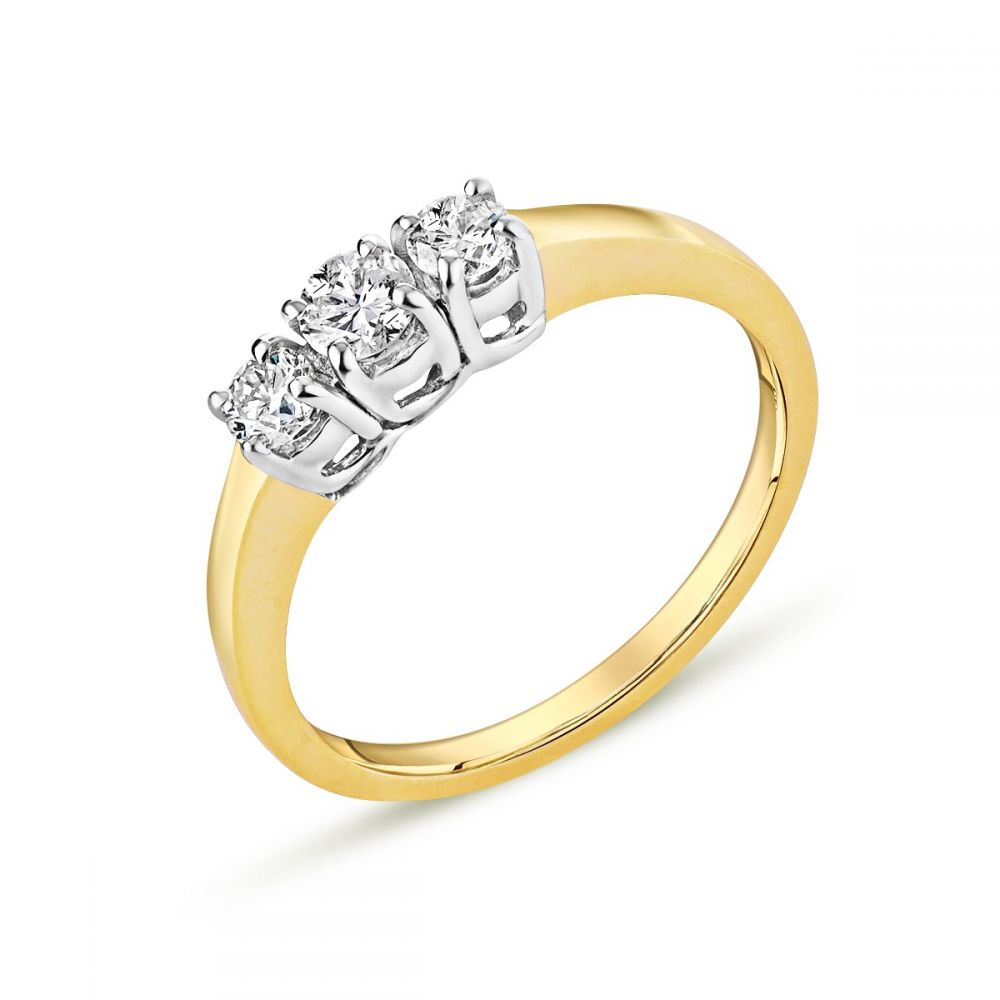 product five b w cut graduated stone r ring round diamond engagement