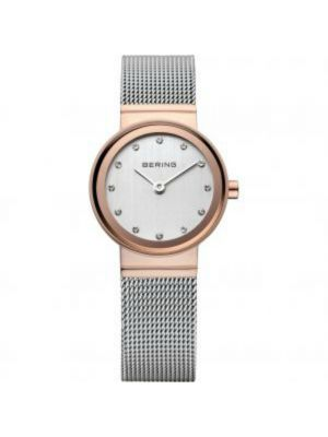 Ladies Classic Milanese strap watch with rosegold plate case