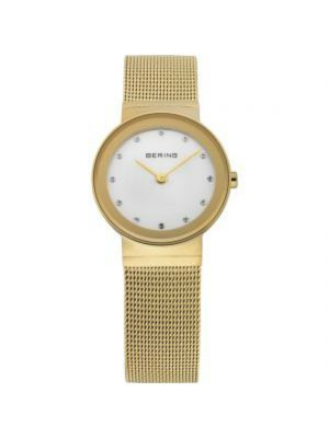 Bering Classic Ladies gold plated Milanese strap watch
