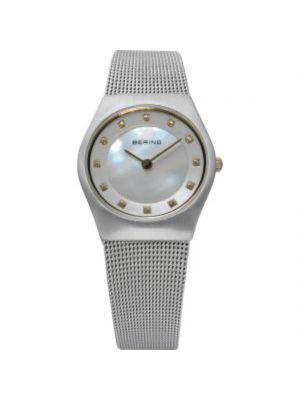 Ladies Classic Bering watch with mother of pearl dial and Milanese strap
