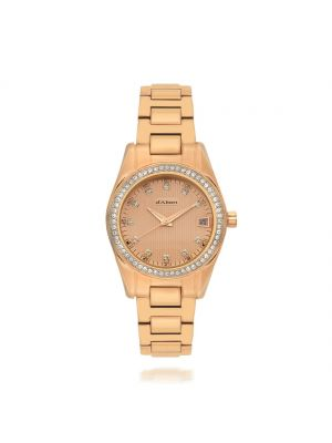 d'Alton Ladies Rose Stone Set Bracelet Watch