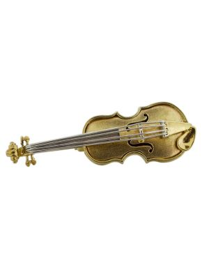 9ct two tone cello brooch
